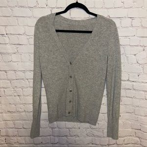 Tory Burch Cashmere Cardigan Jeweled Logo Buttons